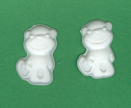 Baby monkey plaster of Paris painting project.