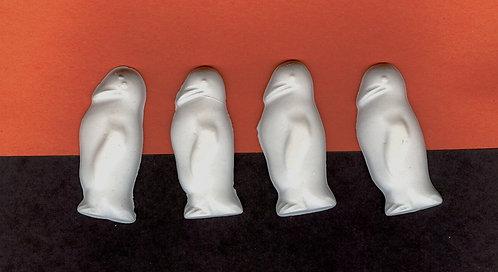 Penguins plaster of Paris painting project.