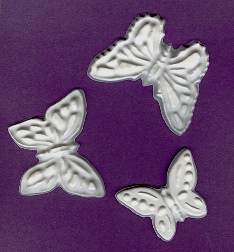 Three butterflies plaster of Paris painting project.
