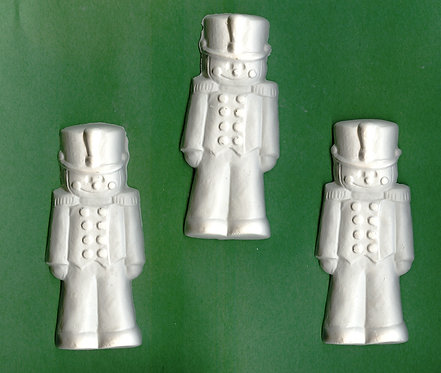 Cute toy soldier plaster of Paris painting project.