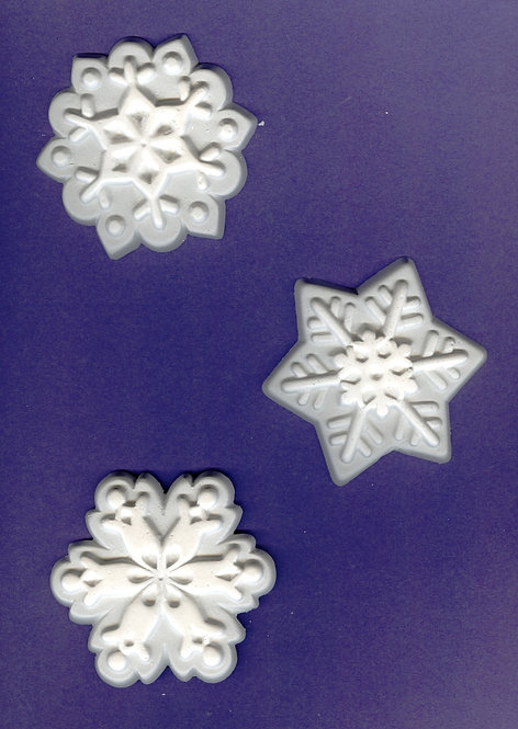 Large Snowflakes plaster of Paris painting project.