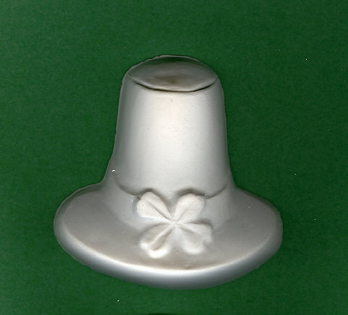 St. Patrick's day hat plaster of paris painting project.