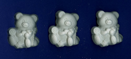Bear with toys plaster of Paris painting project.