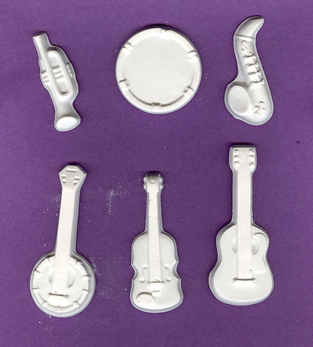 Music instrument plaster of Paris painting project.