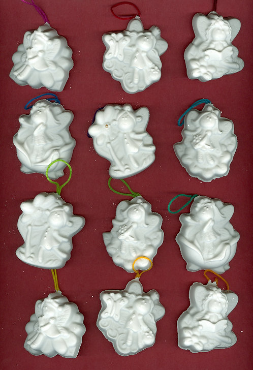 Lil Fairies ornaments plaster of Paris painting project.
