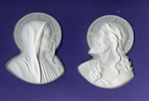 Jesus & Mary plaster of paris painting project.