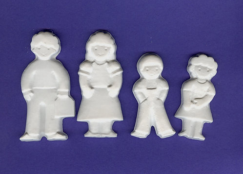Happy Family plaster of Paris painting project.
