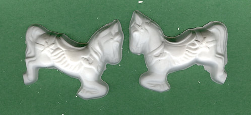 Carousel horses plaster of Paris painting project.