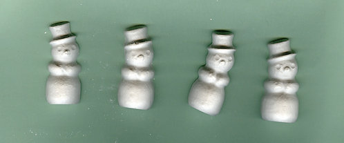 Snowmen plaster of paris painting project.