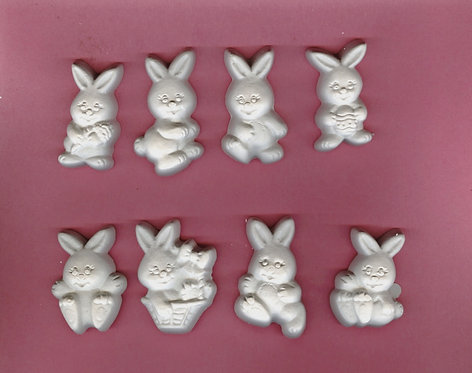 Easter Bunnies plaster of Paris painting project.
