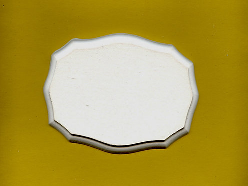 Oval plaque plaster of Paris painting project.