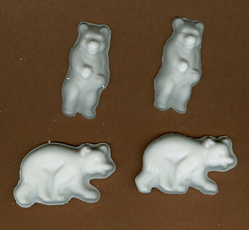 Bears plaster of Paris painting project.(kngr)
