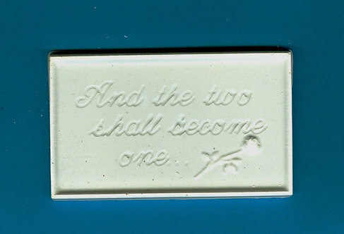 """And the two shall become one"" plaque plaster of Paris painting project."