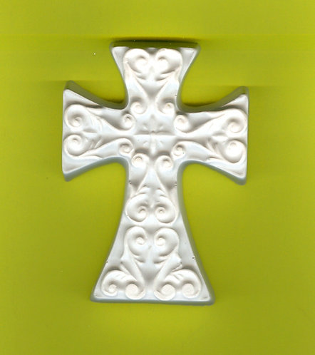 Iron designed large cross (Plaster-of-Paris) painting project.
