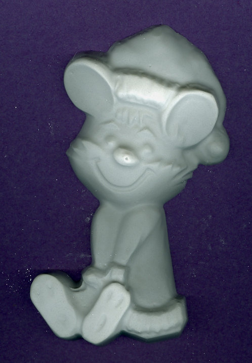 Big mouse with socking hat plaster of Paris painting project.