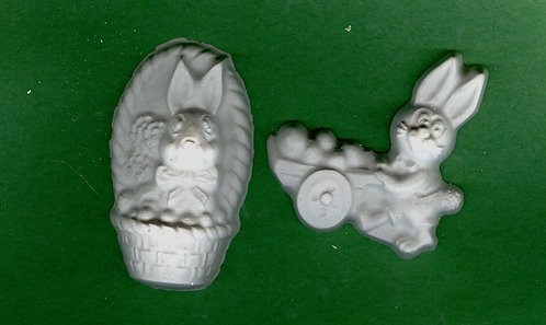 Easter all about bunnies plaster of Paris painting project.