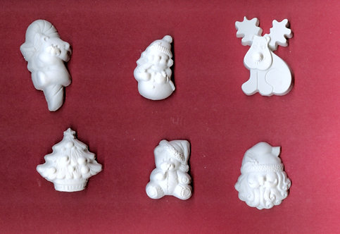 Medium Christmas assortment (rndr) plaster of Paris painting project.