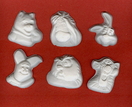 Winnie-the-Pooh & friends plaster of Paris painting project.