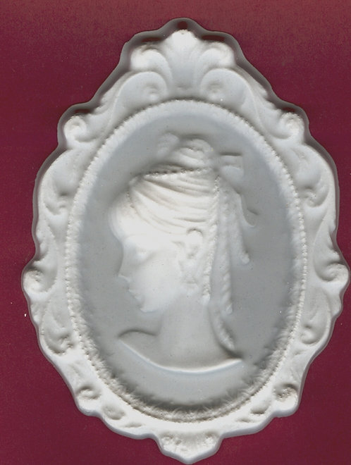Large Broach Cameo w/designed frame plaster of Paris painting project!