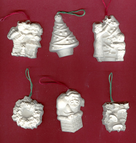 Christmas time ornaments plaster of Paris painting project.