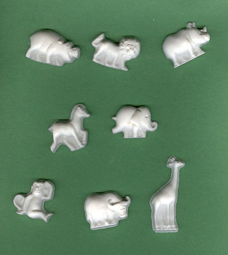 Zoo Animal plaster of Paris painting project.