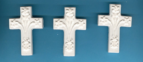 Cross w/ lilies plaster of Paris painting project.