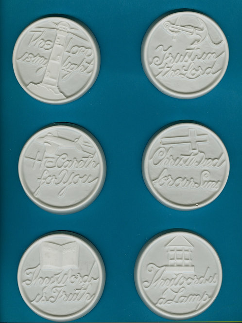 Jesus sayings circles plaster of Paris painting project.