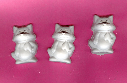 Kitty Cat plaster of Paris painting project.