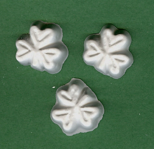 Small button shamrock plaster of Paris painting project.