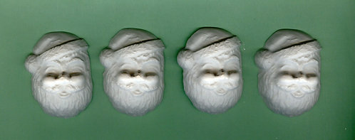 Santa Clause head plaster of Paris painting project.