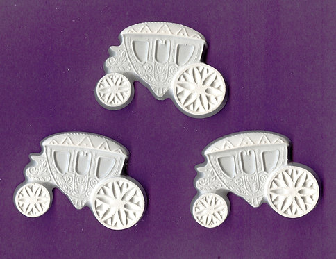 Wedding carriage plaster of Paris painting project.