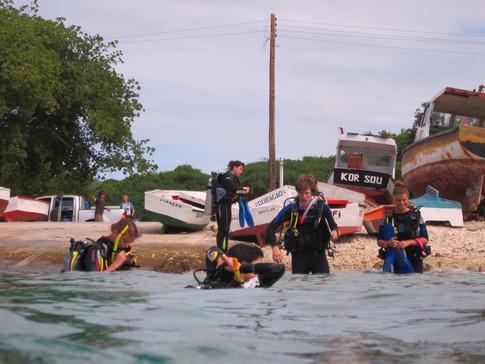 Coral reef students near Boka on Curacao