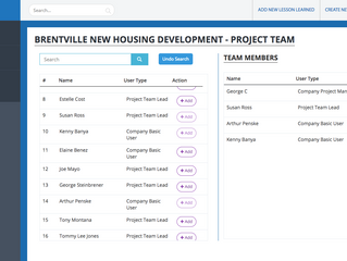 Adding Team Members to Your Projects