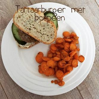 Tartaarburger met bospeen #FODMAPdieet