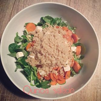 Quinoa salade met feta en wortel #FODMAPdieet