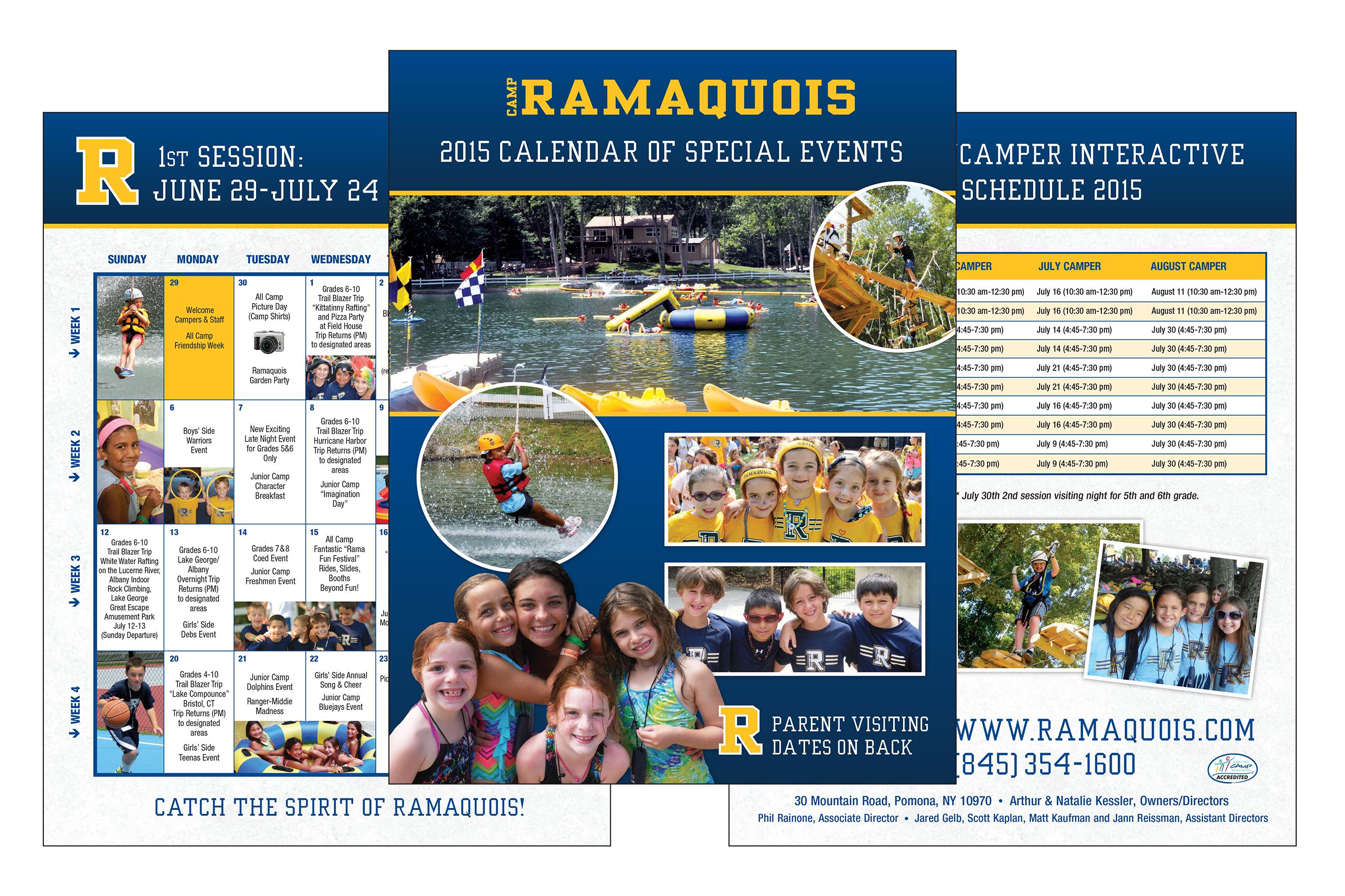 4 page 8.5x11 Calendar