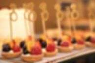 mini fuit tarts with cupcake toppers