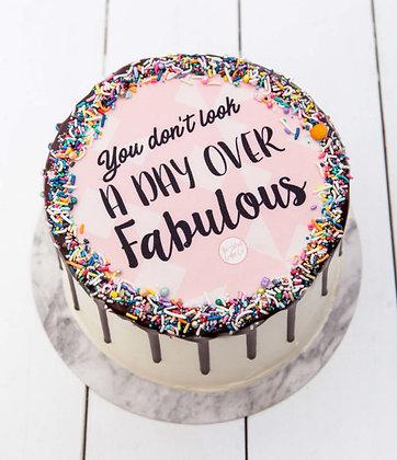 InstaQuote Fabulous Birthday Celebration Cake