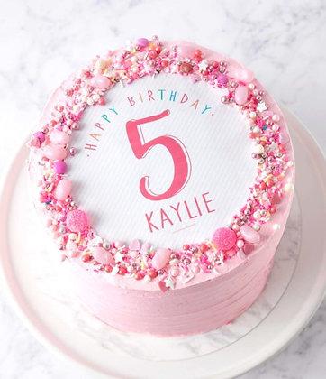 Kids Pink Celebration Cake