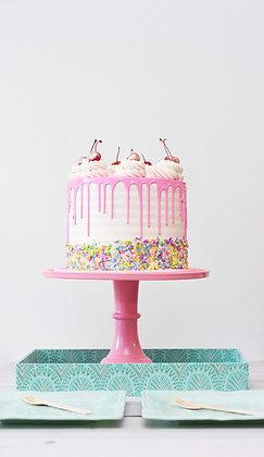 Pink Fantasy Drip Cake