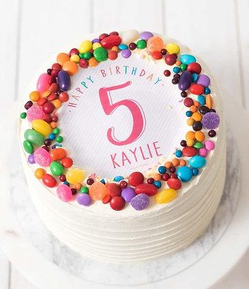 Kids White Celebration Cake