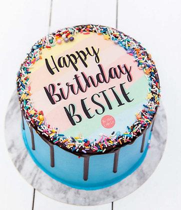 Happy Birthday Bestie Celebration Cake