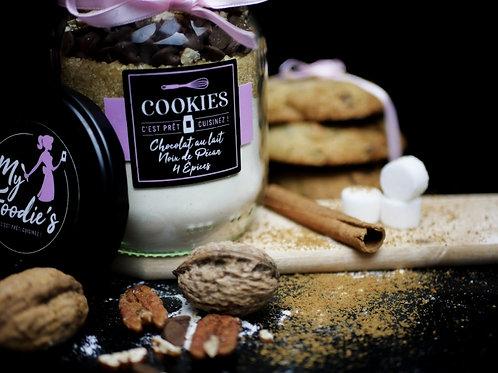 """Cookies """"CHOCOLAT LAIT, NOIX DE PECAN, 4 EPICES"""""""