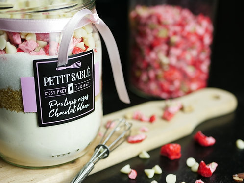 "Petits Sablés ""PRALINES ROSES CHOCOLAT BLANC"""