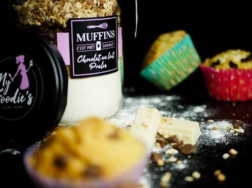 "Muffins ""CHOCOLAT LAIT, PRALINE"" (caissette fourni avec)"