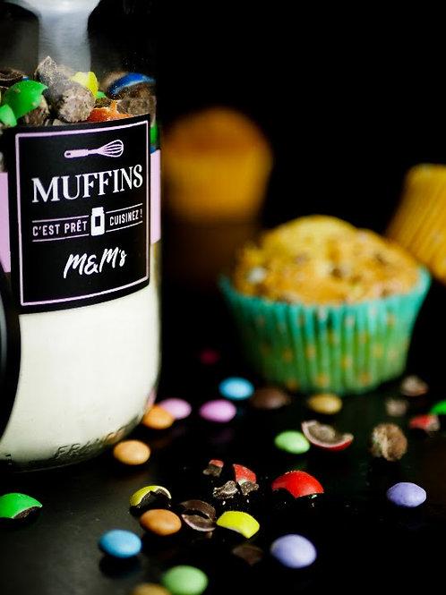 "Muffins ""M&M'S""(caissette fourni avec)"