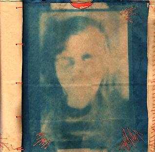trina fernandez, mother and daughter, cyanotype, storybook