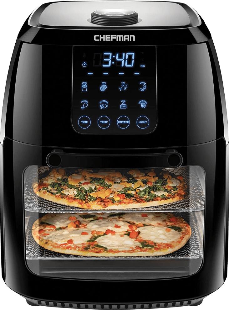 The Chefman 6.3 Quart Digital Air Fryer Rotisserie Oven