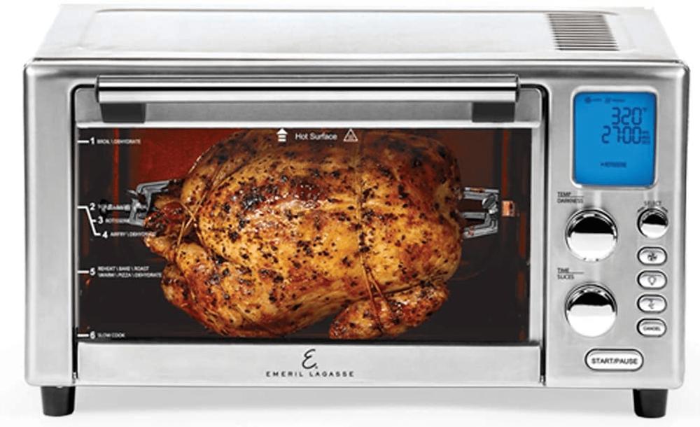 The Emeril Lagasse Power Air Fryer 360 Rotisserie Oven
