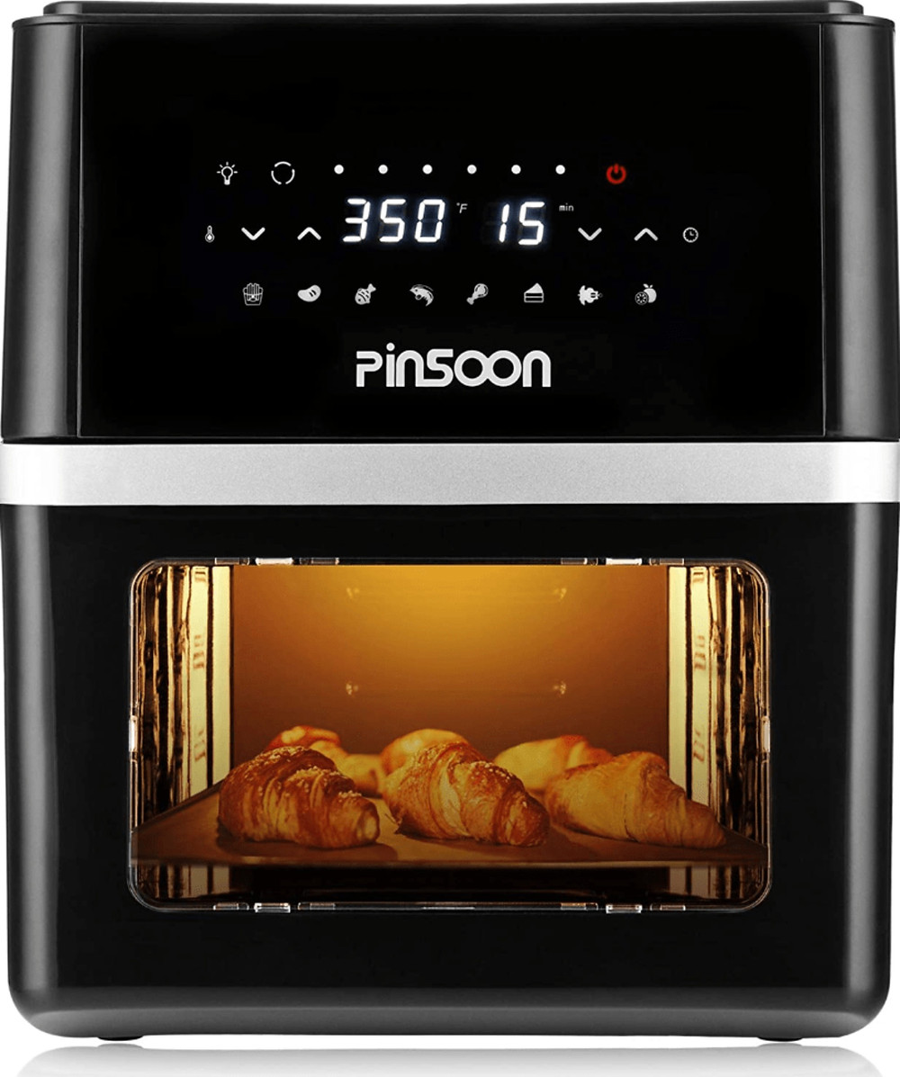 The PINSOON 10-Quart Air Fryer with Rotisserie